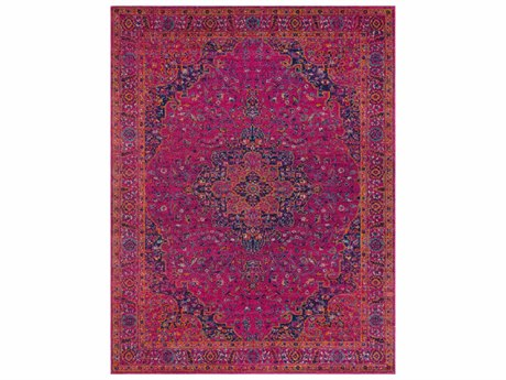 Surya Harput Rectangular Bright Pink, Violet & Burnt Orange Area Rug
