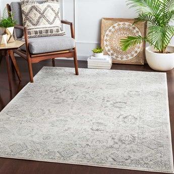 Surya Harput Charcoal / Light Gray White Rectangular Area Rug
