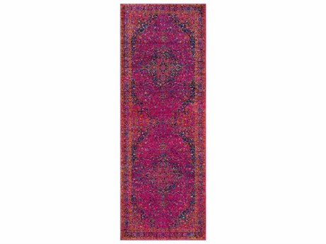 Surya Harput Garnet / Burnt Orange Teal Dark Blue Light Gray Runner Area Rug