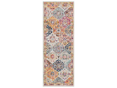 Surya Harput Saffron / Burnt Orange Dark Blue Garnet Teal Charcoal Beige Runner Area Rug