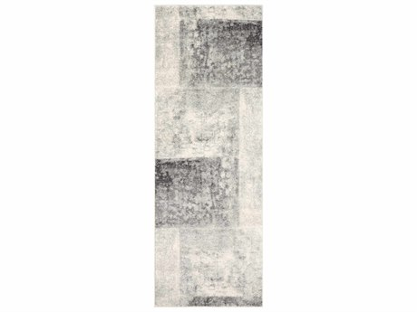 Surya Harput Light Gray / Beige Charcoal White Runner Area Rug