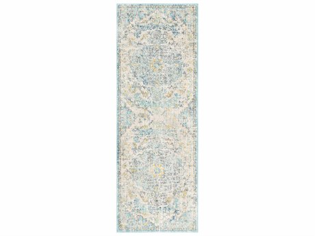 Surya Harput Beige / Saffron Light Gray Teal Charcoal Runner Area Rug