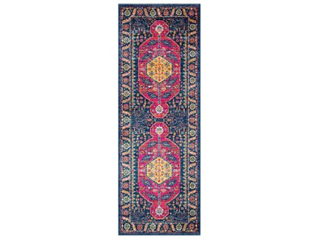 Surya Harput Dark Blue / Garnet Saffron Burnt Orange Teal Beige Light Gray Charcoal Runner Area Rug
