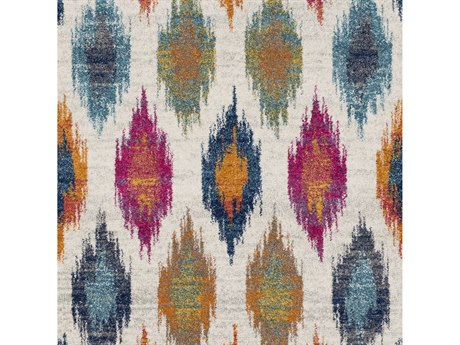 Surya Harput Burnt Orange / Light Gray Charcoal Teal Dark Blue Garnet Saffron Beige Square Sample