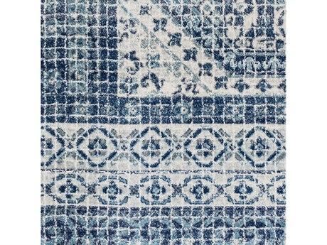 Surya Harput Dark Blue / Teal Light Gray Beige Square Sample