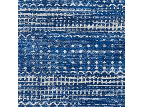 Surya Harput Bright Blue / Light Gray Square Sample