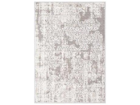 Surya Hazar Light Gray / White Rectangular Area Rug