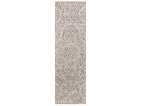 Surya Henna 2'6'' x 8' Rectangular Medium Gray & Light Gray Runner Rug