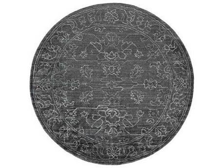 Surya Hightower Charcoal / Light Gray Round Area Rug