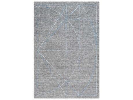 Surya Hightower Medium Gray / Charcoal White Taupe Rectangular Area Rug