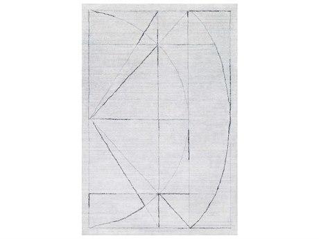 Surya Hightower Medium Gray / White Black Rectangular Area Rug