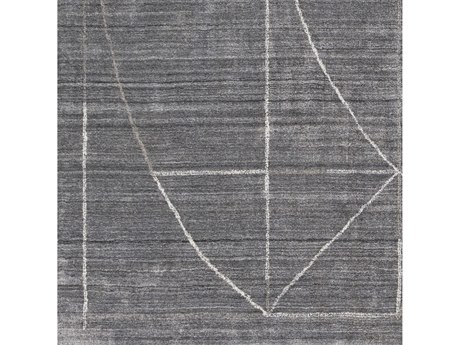 Surya Hightower Medium Gray / Charcoal White Taupe Square Sample