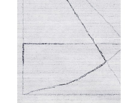 Surya Hightower Medium Gray / White Black Square Sample