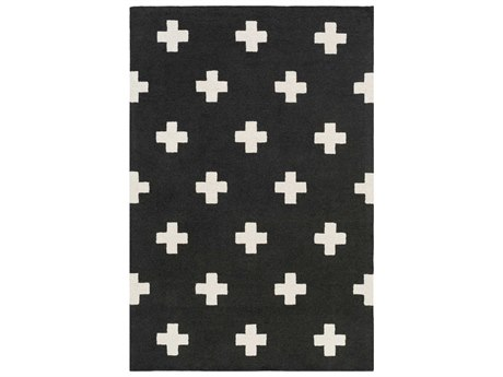 Surya Hilda Black / White Rectangular Area Rug