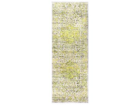 Surya Himalayan Bright Yellow / Grass Green Lavender Medium Gray Black White Runner Area Rug