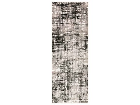 Surya Himalayan Black / Medium Gray Lavender Runner Area Rug