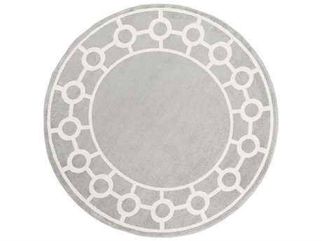 Surya Horizon 7'10'' Round Medium Gray & Cream Area Rug