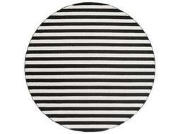 Horizon 7'10'' Round Black & Cream Area Rug