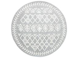 Horizon Medium Gray / Cream Round Area Rug