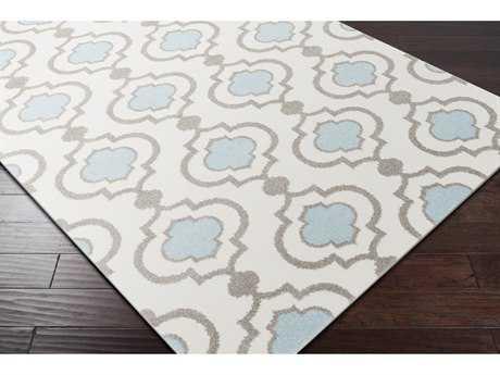 Surya Horizon Rectangular Cream, Charcoal & Denim Area Rug