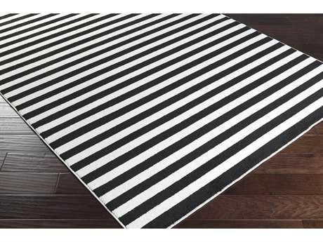 Surya Horizon Rectangular Black & Cream Area Rug