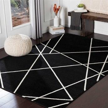 Surya Horizon Black / Cream Rectangular Area Rug