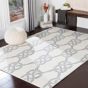 Surya Horizon Medium Gray / Cream Rectangular Area Rug