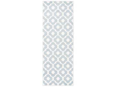 Surya Horizon 2'7'' x 7'3'' Rectangular Denim & Cream Runner Rug