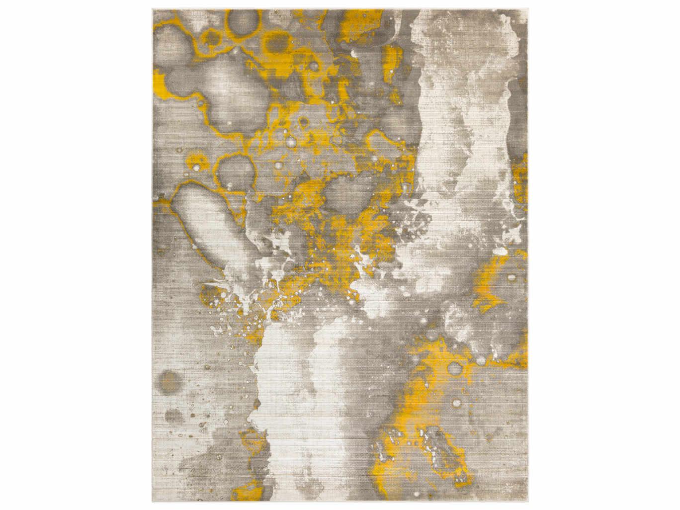 Surya Jax Rectangular Light Gray Gold Area Rug
