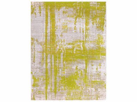 Surya Jax Rectangular Light Gray & Lime Area Rug