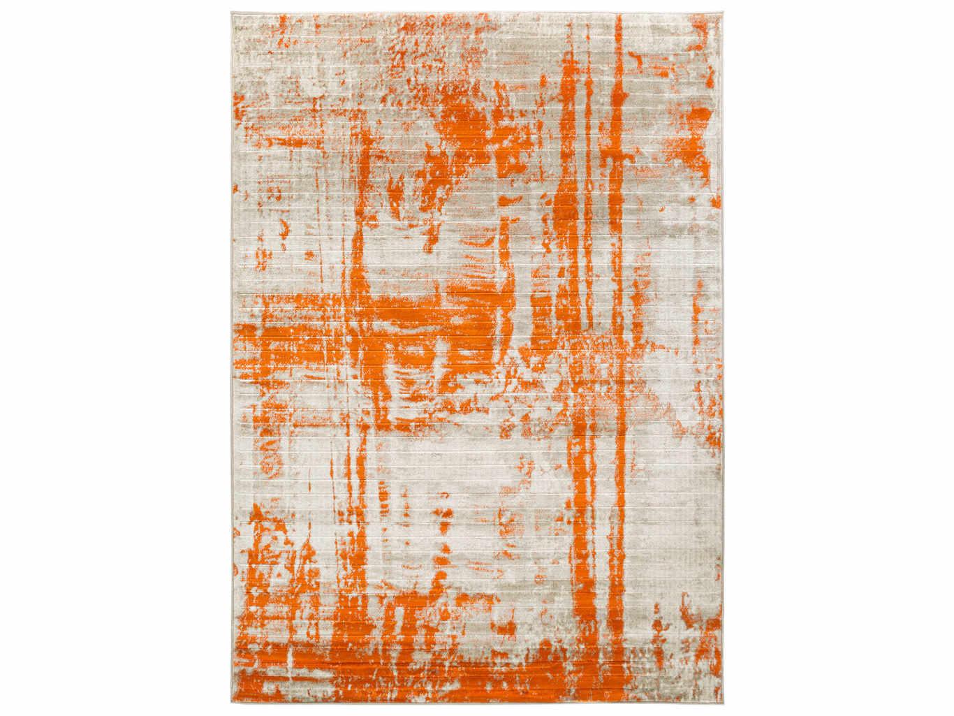 Picture of: Surya Jax Rectangular Light Gray Burnt Orange Area Rug Syjax5032rec