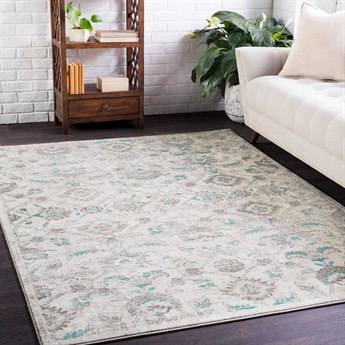 Surya Jax Emerald / Dark Brown Taupe Light Gray Rectangular Area Rug