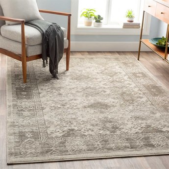 Surya Jax Dark Brown / Taupe Light Gray Rectangular Area Rug