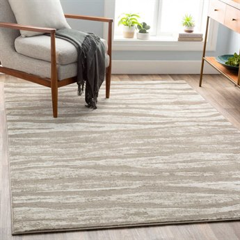 Surya Jax Light Gray / Taupe Cream Dark Brown Rectangular Area Rug