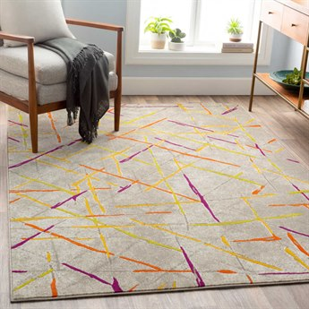 Surya Jax Mustard / Burnt Orange Dark Brown Light Gray Purple Olive Rectangular Area Rug SYJAX5062REC