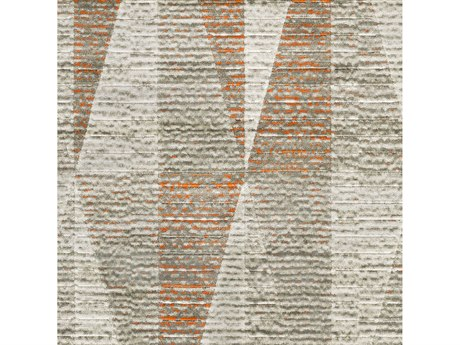 Surya Jax Light Gray / Dark Brown Burnt Orange Square Sample