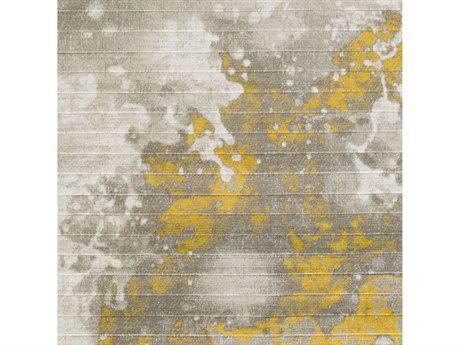 Surya Jax Mustard / Light Gray Dark Brown Square Sample