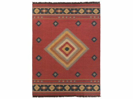 Surya Jewel Tone Rectangular Red Area Rug SYJT1033REC
