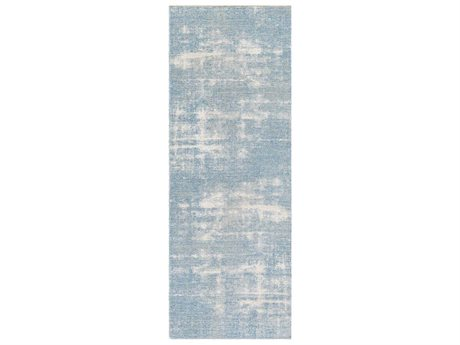 Surya Kilim Denim / White / Cream Runner Area Rug