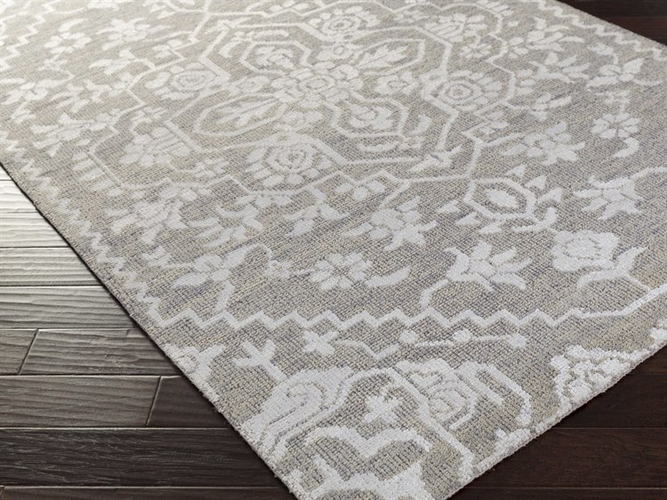 Surya Kinnara Rectangular Light Gray Area Rug