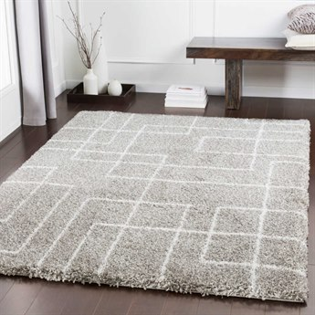 Surya Kodiak Light Gray / Taupe White Rectangular Area Rug
