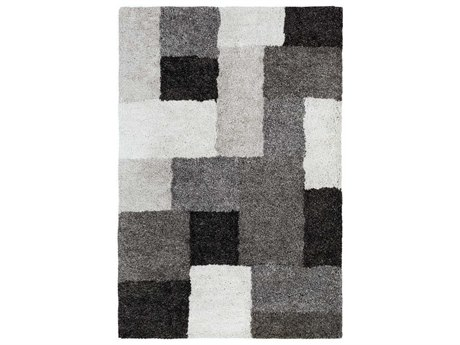 Surya Koryak Black / Ivory Light Gray Rectangular Area Rug