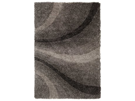 Surya Koryak Black / Light Gray Rectangular Area Rug
