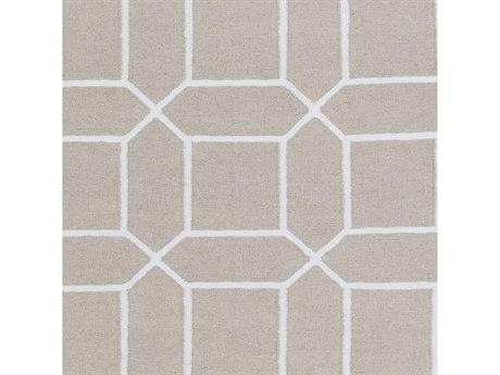 Surya Lagoon Ivory / White Square Sample