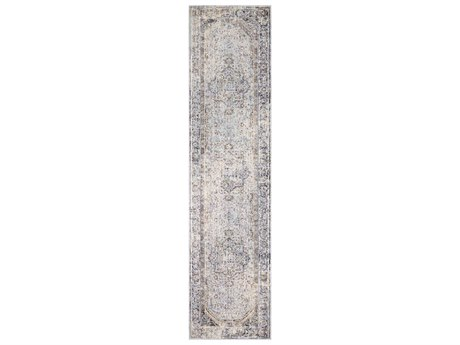 Surya Liverpool Charcoal / Medium Gray Silver White Ivory Camel Runner Area Rug