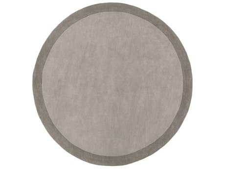 Surya Madison Square Round Medium Gray & Charcoal Area Rug