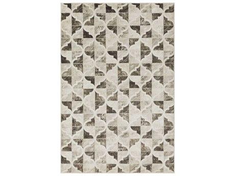 Surya Mahadayi Dark Brown / Khaki Light Gray Ivory Rectangular Area Rug