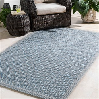 Surya Marmaris Light Gray / Sky Blue Black Rectangular Area Rug