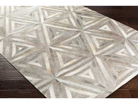Surya Medora Rectangular Dark Brown, Taupe & White Area Rug