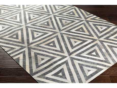 Surya Medora Rectangular Charcoal, Taupe & White Area Rug